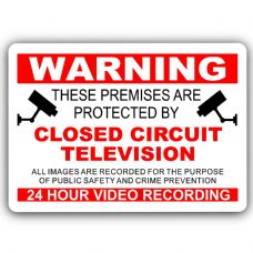 RED-Premises Protected By CCTV-Aluminium Metal Sign-150mmx100mm-Home,Security,Business,Recording